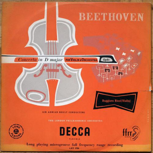 Beethoven Concerto pour violon Ricci Boult