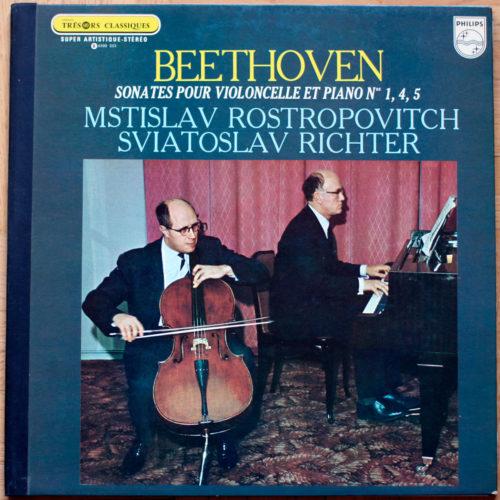 Beethoven • Sonates pour violoncelle et piano n° 1, 4 & 5 • Richter • Rostropovich