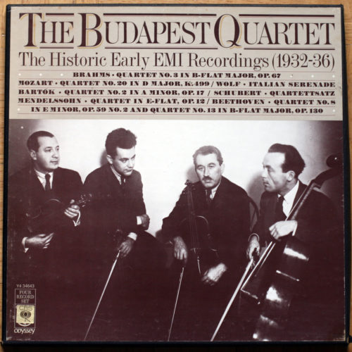 The Budapest Quartet • Historic EMI Recordings