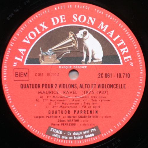 Debussy Ravel Quatuor Parrenin
