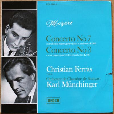 Mozart Concertos Violon 3 7 Ferras Munchinger