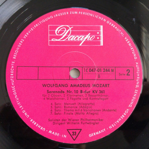 Mozart Serenade Gran Partita Pour 13 Instruments A Vent
