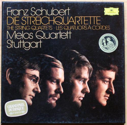 Schubert Melos Quartet Quatuors à corde