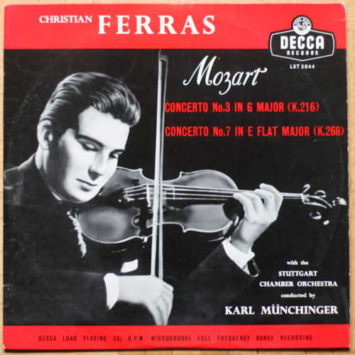 Mozart Concert Violon 3 & 7 Ferras Munchinger