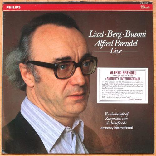 Liszt Berg Busoni Brendel Amnesty