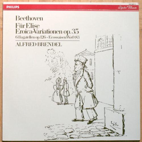 """Beethoven Pour Elise Variations """"Eroica"""" Six Bagatelles Six Ecossaises Brendel"""