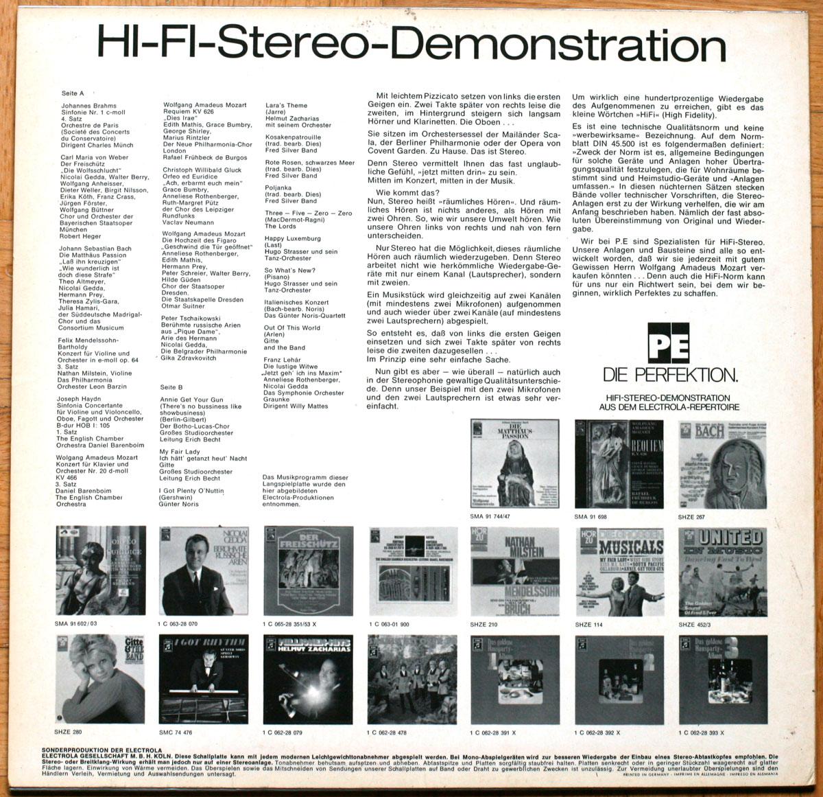 Hi Fi Disque Demonstration
