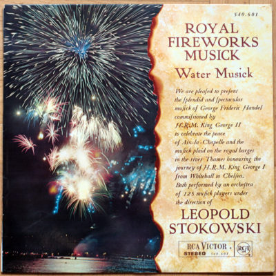 Händel Music For The Royal Fireworks Suite Water Music Suite Stokowski