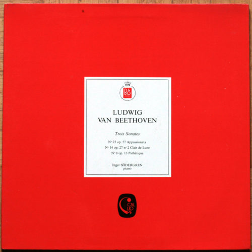 Beethoven Sonates 8 14 23 Sodergren