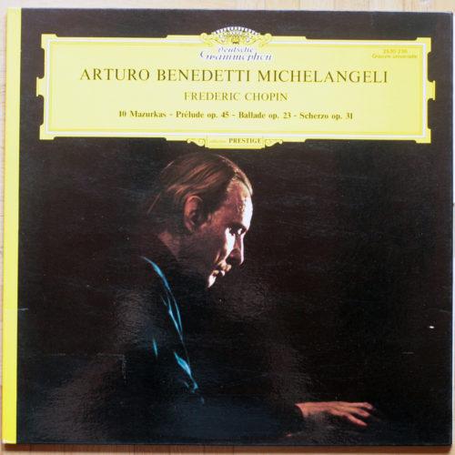 Chopin Mazurkas 10 Prelude Benedetti Michelangeli