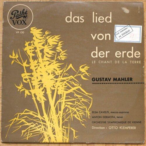 Mahler Lied von der Erde Cavelti Klemperer