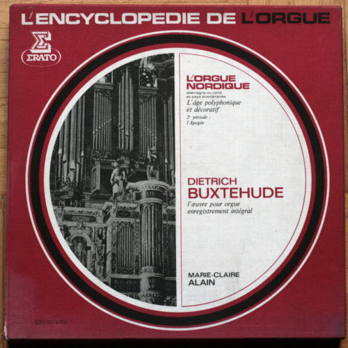 Buxtehude Œuvres Orgue Integrale Alain