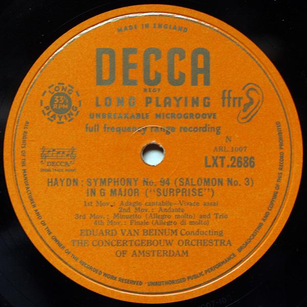 Decca | Records | LP | Vinyl | Label Guide | Références | England