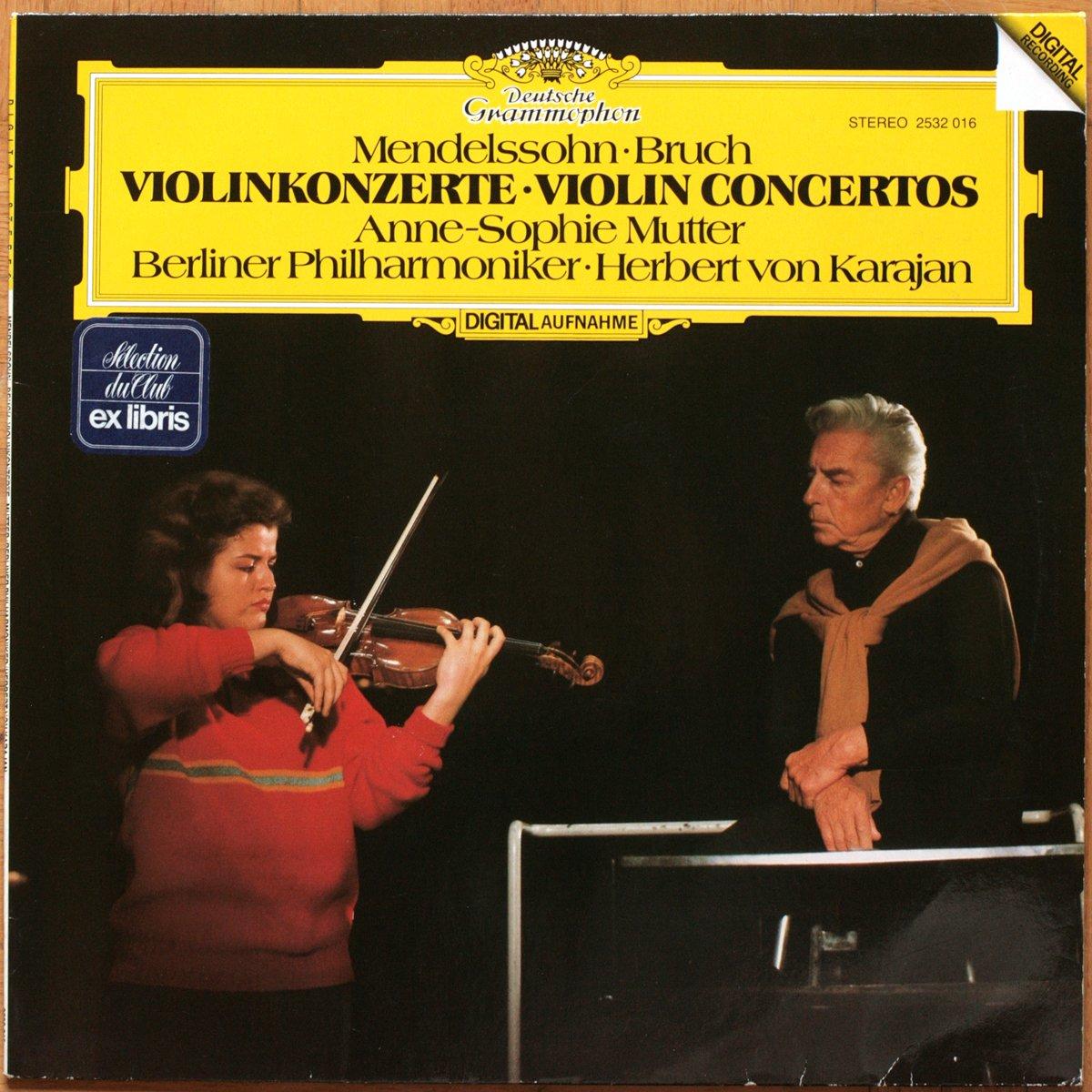 DGG 2532016 Mendelssohn Bruch Concerto Violon Mutter Karajan