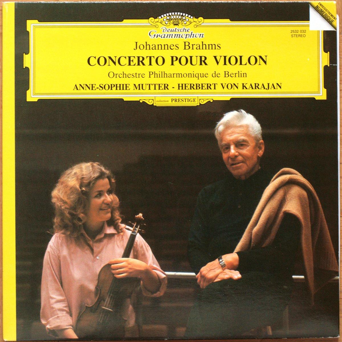 DGG 2532032 Brahms Concerto Violon Mutter Karajan