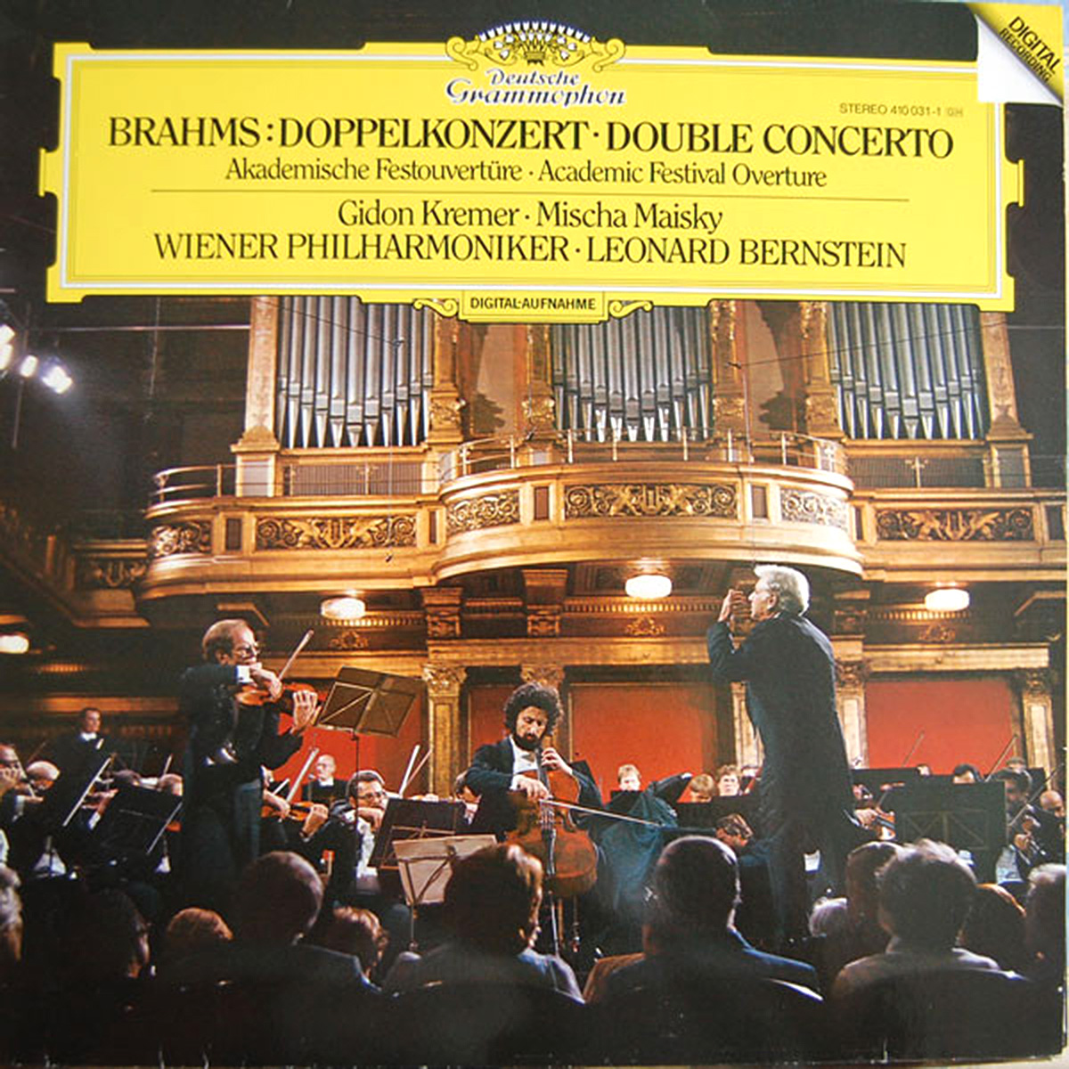 DGG 410 031 Brahms Doppelkonzert Kremer Maisky Bernstein DGG Digital Aufnahme