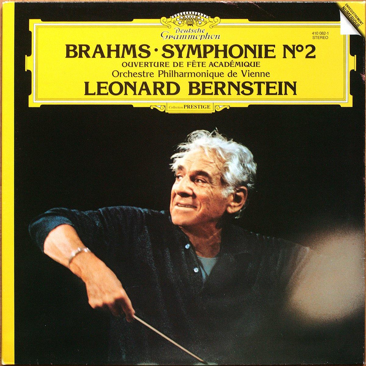 DGG 410 082 Brahms Symphonie 2 Bernstein DGG Digital Aufnahme