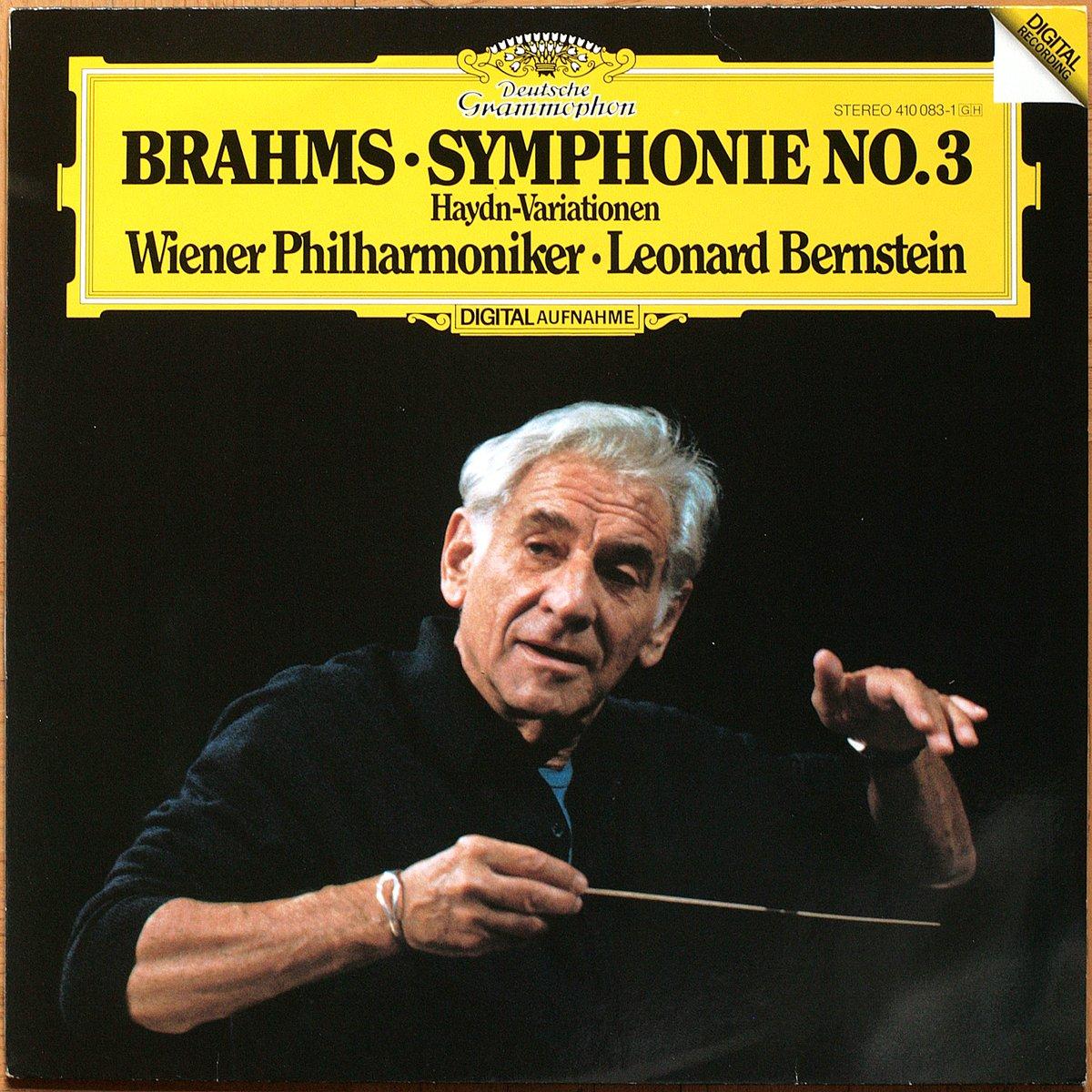DGGDGG 410 083 Brahms Symphonie 3 Bernstein DGG Digital Aufnahme