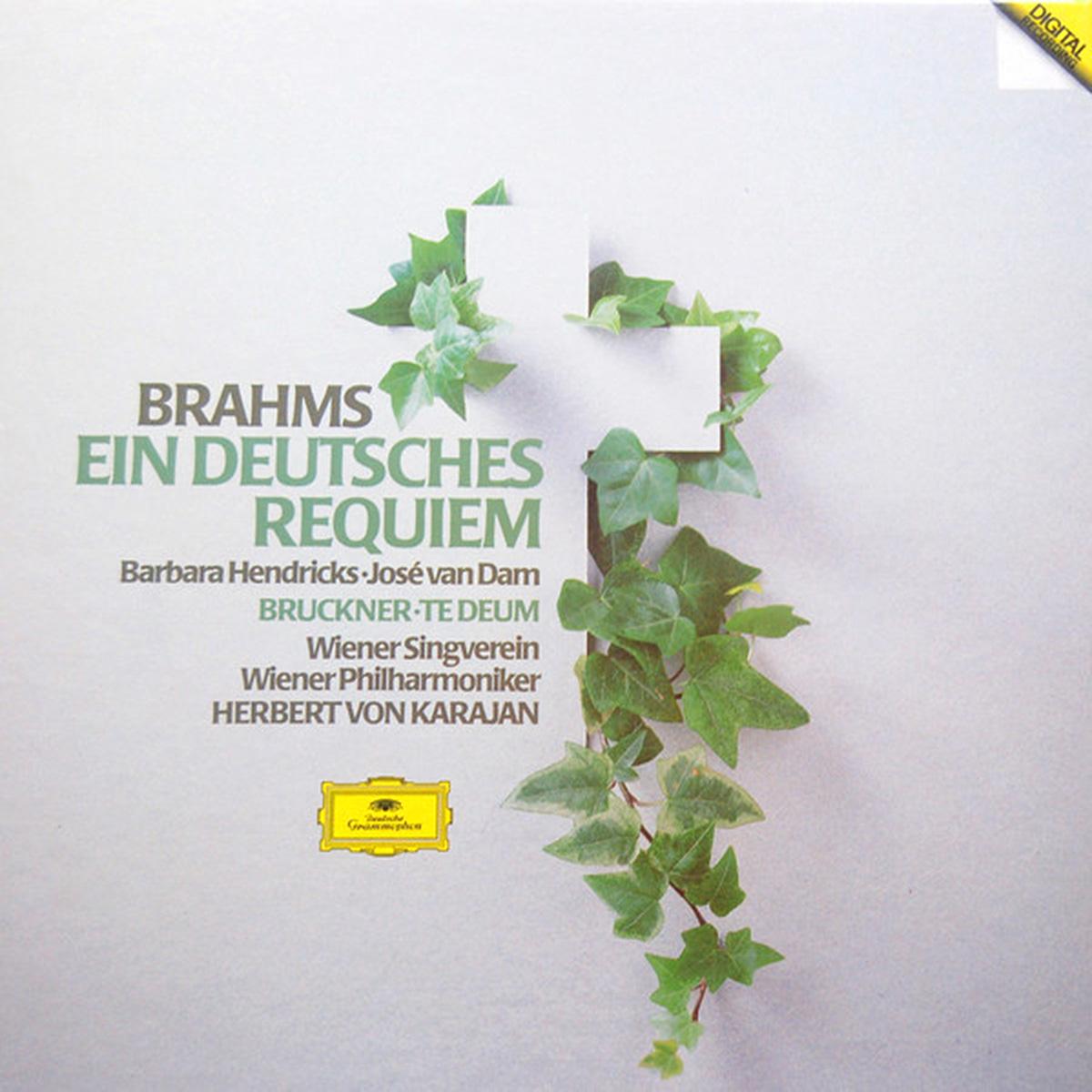 DGG 410 521 Brahms Deutsche Requiem Bruckner Te Deum Karajan DGG Digital Aufnahme