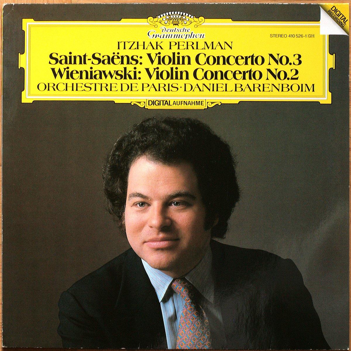 DGG 410 526 Saint Saens Concerto Violon Perlman Barenboim DGG Digital Aufnahme