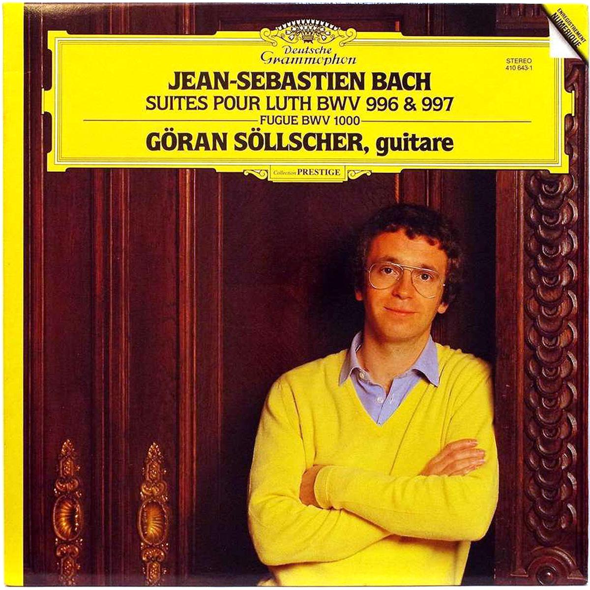 DGG 410 643 Bach Suites Luth BWV 996 & 997Sollcher DGG Digital Aufnahme