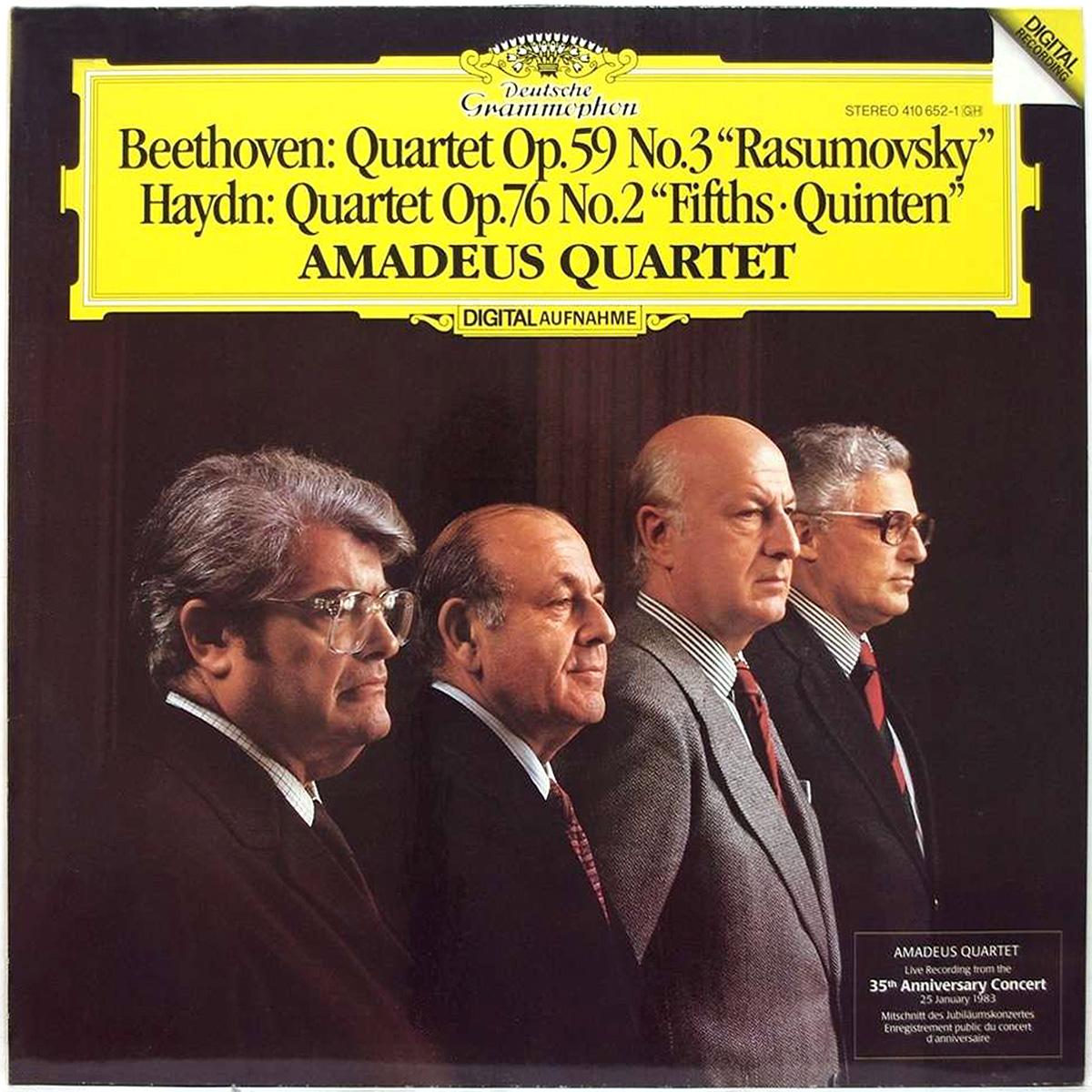 DGG 410 652 Beethoven Haydn Quatuors 2 & 3 Quartet Amadeus DGG Digital Aufnahme