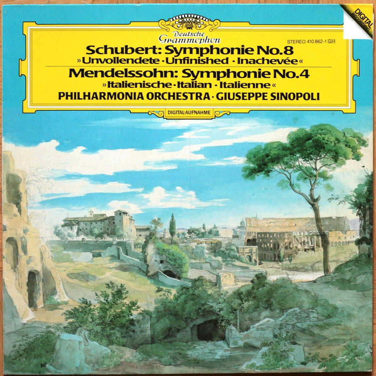 DGG 410 862 Schubert Symphonie 8 Sinopoli DGG Digital Aufnahme