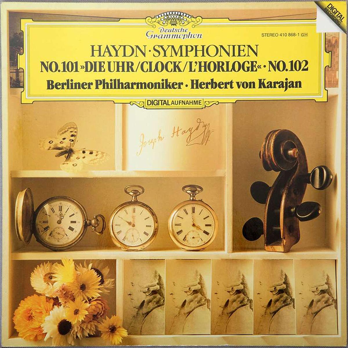 DGG 410 868 Haydn Symphonies 101 & 102 Karajan DGG Digital Aufnahme