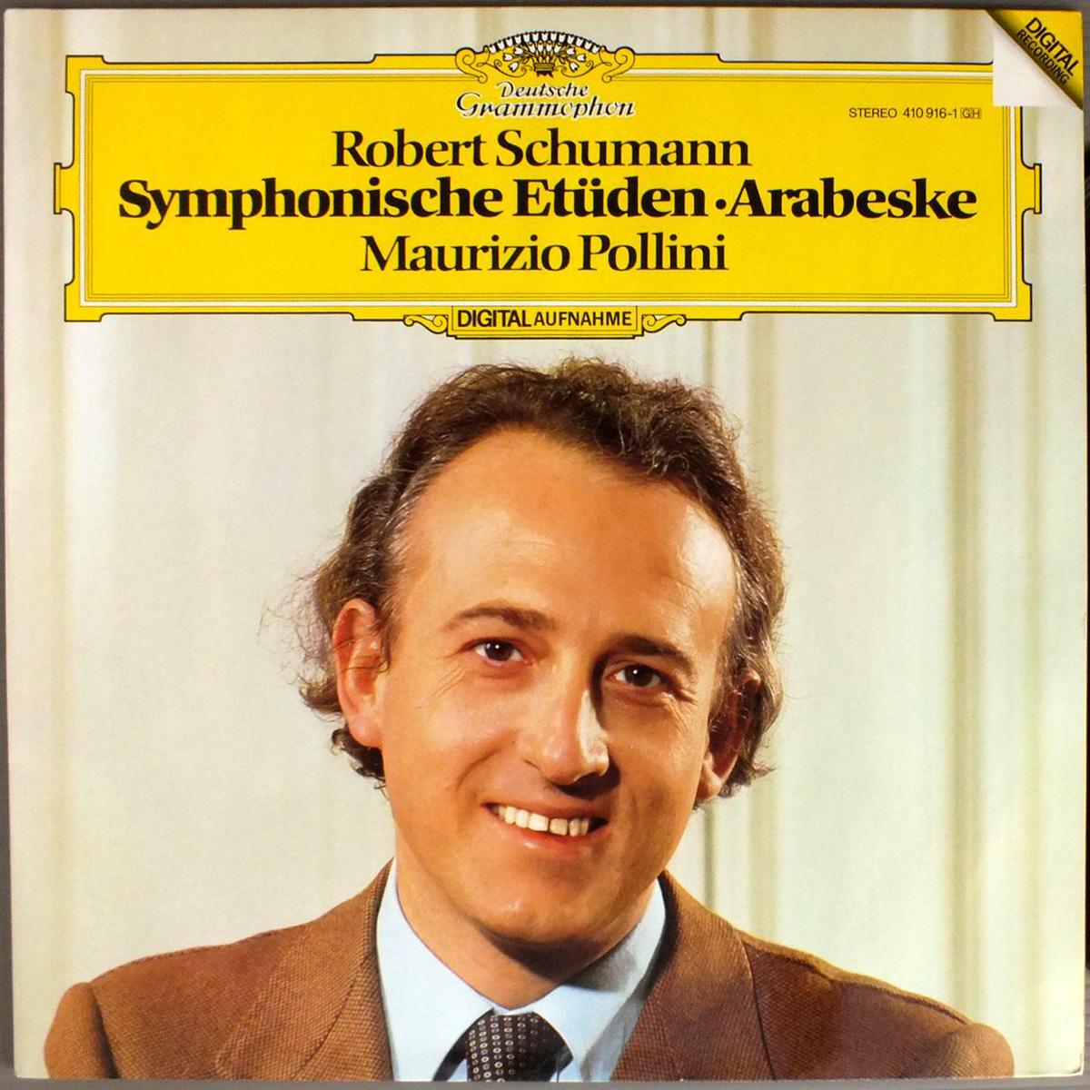 DGG 410 916 Schumann Etudes Symphoniques Arabeske Pollini DGG Digital Aufnahme