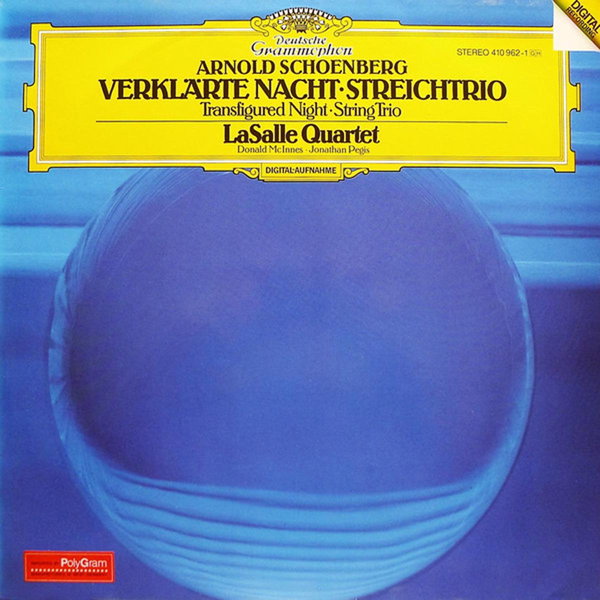 DGG 410 962 Schoenberg Verklarte Nacht LaSalle Quartet Digital Aufnahme