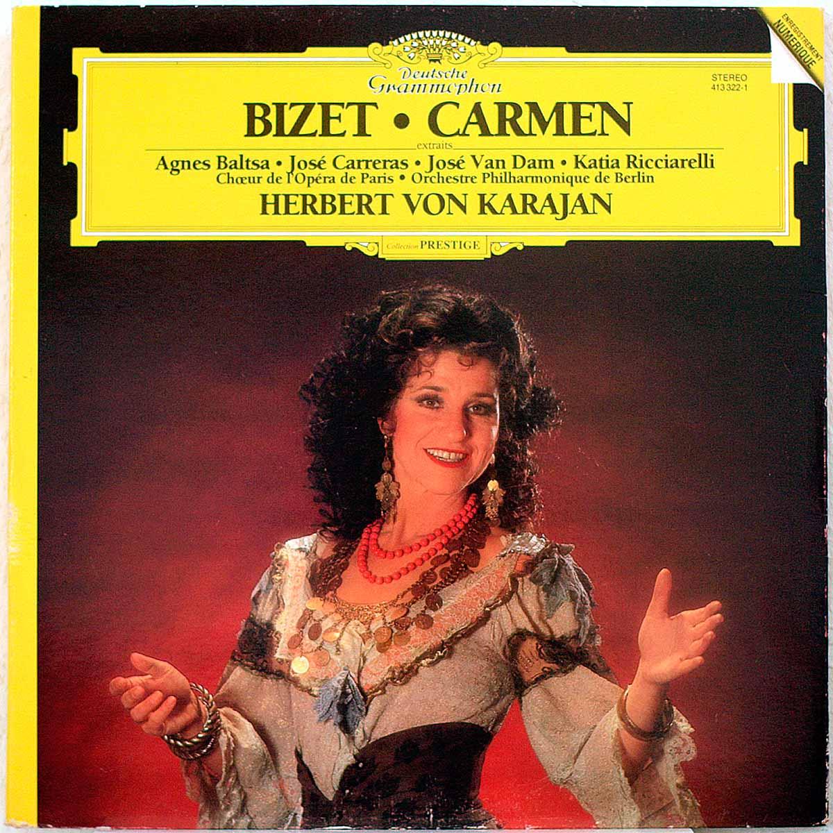 DGG 413 322 Bizet Carmen Karajan DGG Digital Aufnahme