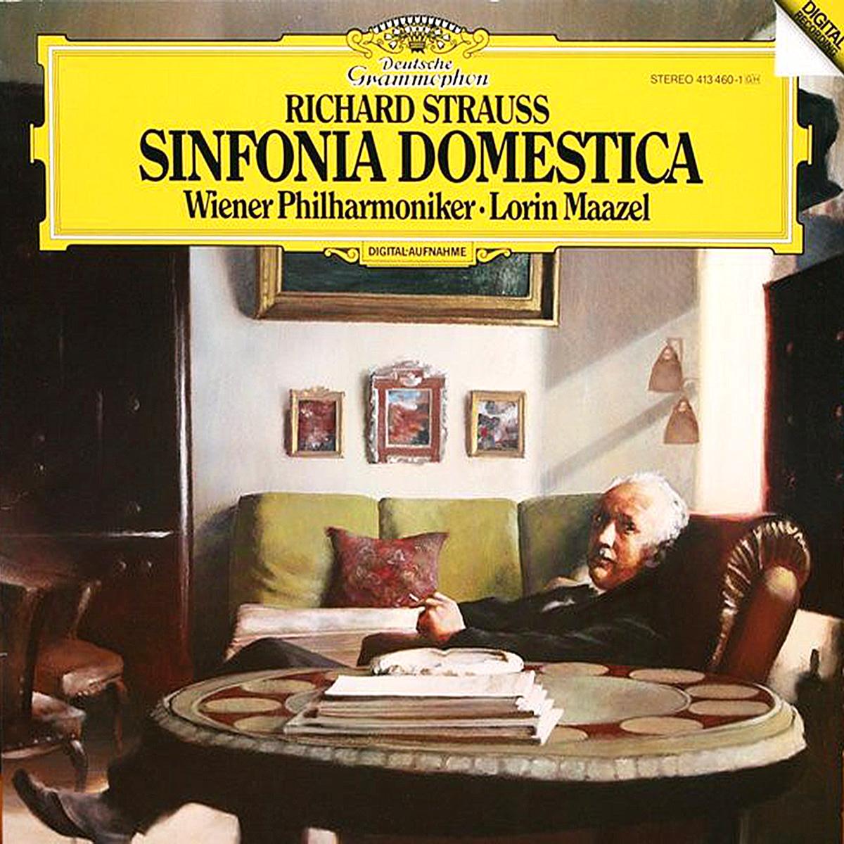 DGG 413 460 Strauss Sinfonia Domestica Maazel DGG Digital Aufnahme