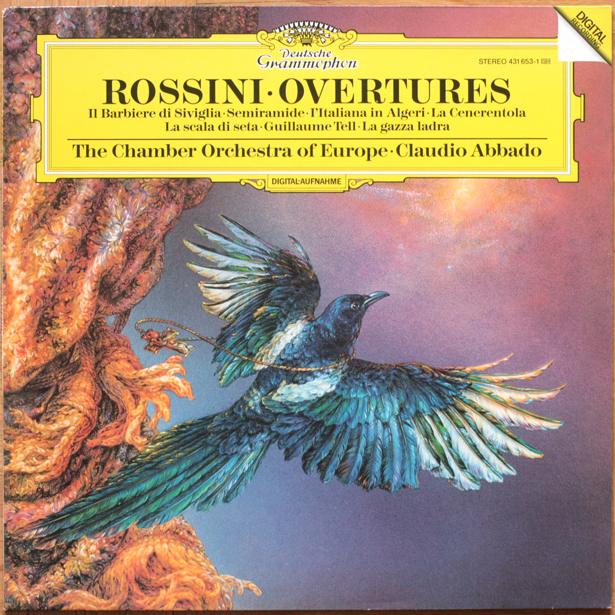 DGG 431 653 Rossini Ouvertures Abbado DGG Digital Aufnahme