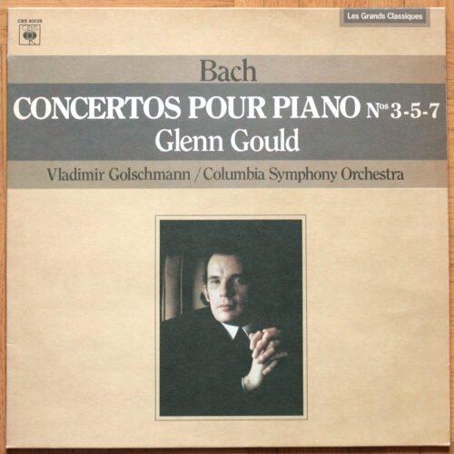 Bach Concertos Piano 3 5 7 Gould Golschmann