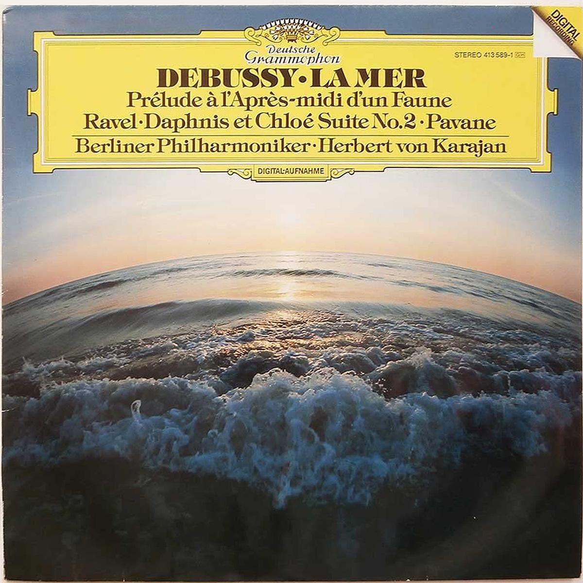 DGG 413 589 Debussy Mer Prelude Pavane Ravel Paphnis Karajan DGG Digital Aufnahme
