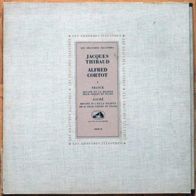 Franck Faure Sonates Piano Violon Cortot Thibaud