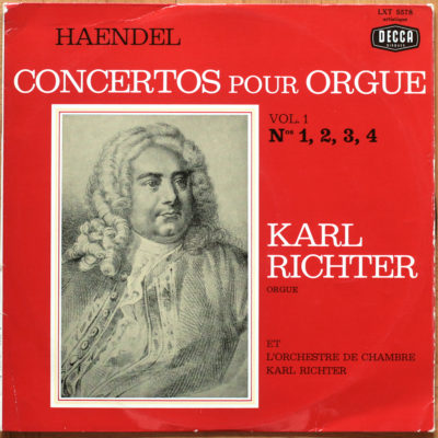 Handel Concertos Orgue Richter Vol 01