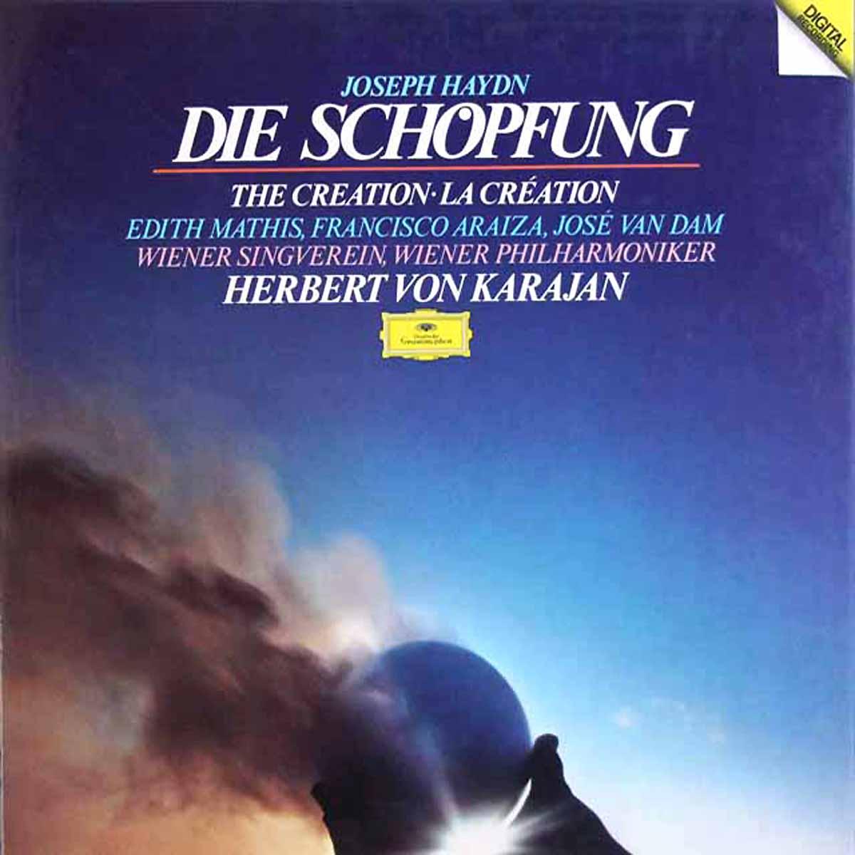 DGG 2560 101 Haydn Die Schopfung karajan DGG Digital Aufnahme