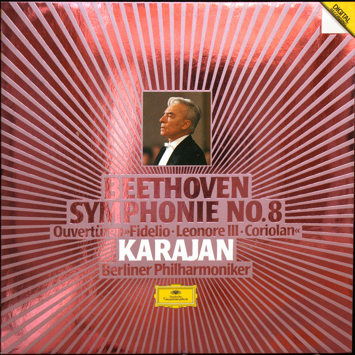 DGG 410 507 Beethoven Symphonie 8 Fidelio Coriolan Karajan DGG Digital Aufnahme