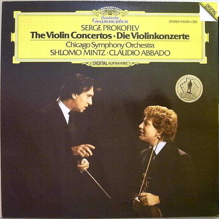 DGG 410 524 Prokofiev Concertos Violon Mintz Abbado DGG Digital Aufnahme