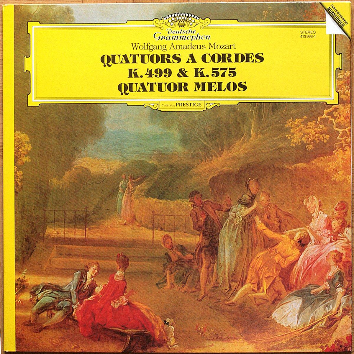 DGG 410 998 Mozart Streichquartette KV 499 & 575Melos Quartett DGG Digital Aufnahme