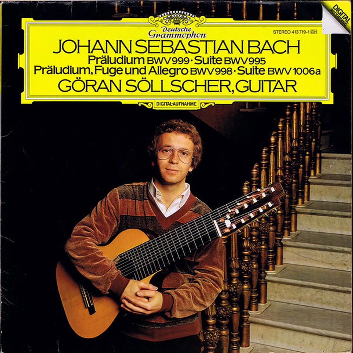 DGG 413 719 Bach Sollcher Praludium Suite BWV 995 998 999 1006 DGG Digital Aufnahme