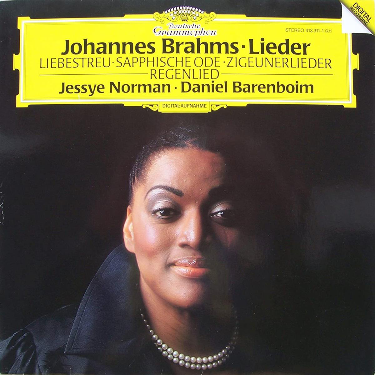 DGG 413 311 Brahms Lieder Norman Barenboim DGG Digital Aufnahme