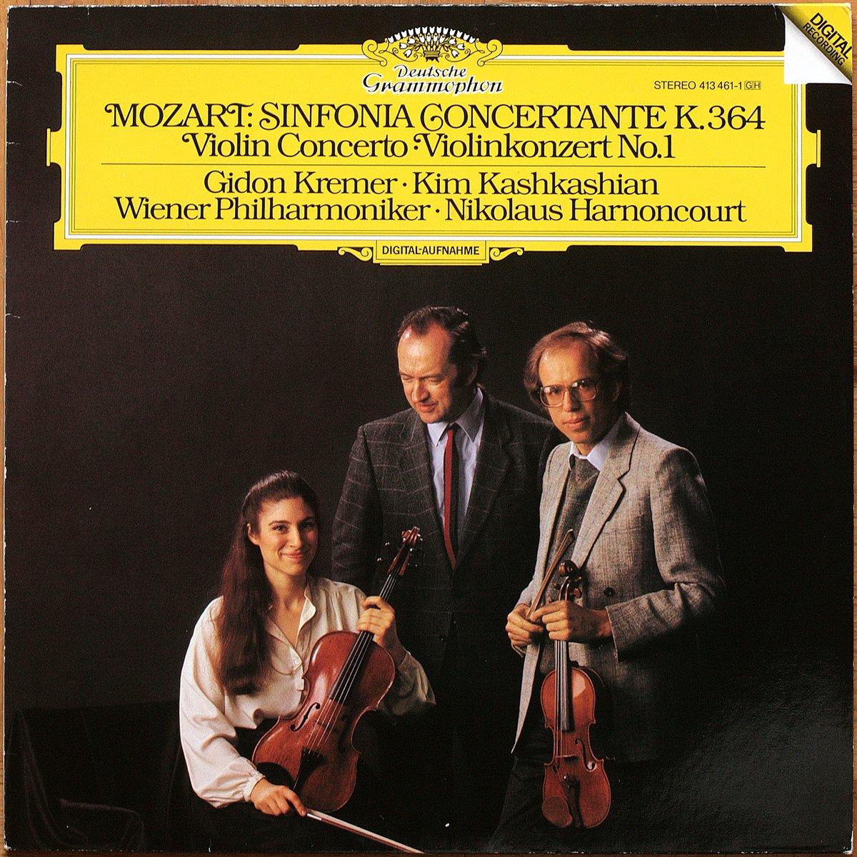 DGG 413 461 Mozart Sinfonia Concertante KV 364 Harnoncourt DGG Digital Aufnahme