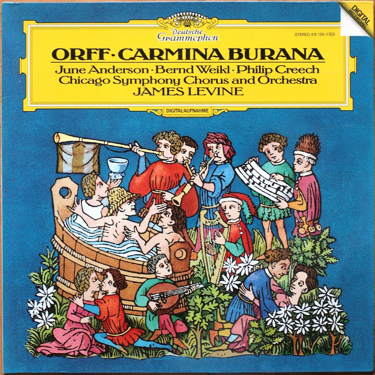 DGG 415 136 Orff Carmina Burana Levine DGG Digital Aufnahme