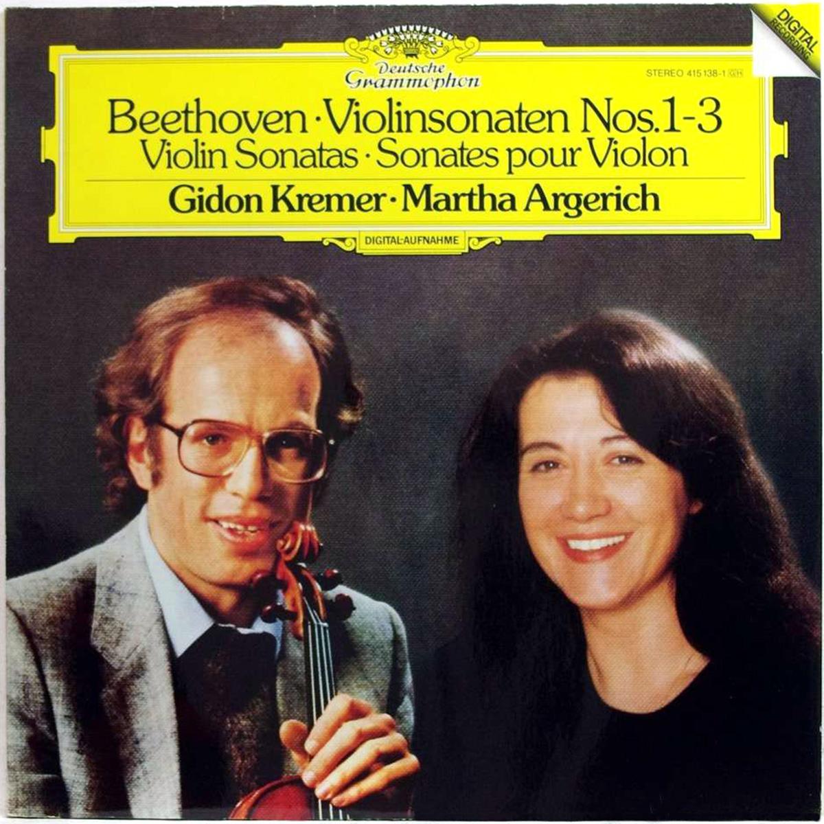 DGG 415138 Beethoven Sonates Pour Violon Piano Argrich Kremer DGG Digital Aufnahme