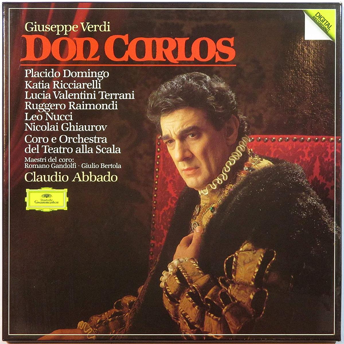 DGG 415 316 Verdi Don Carlos_ Abbado DGG Digital Aufnahme