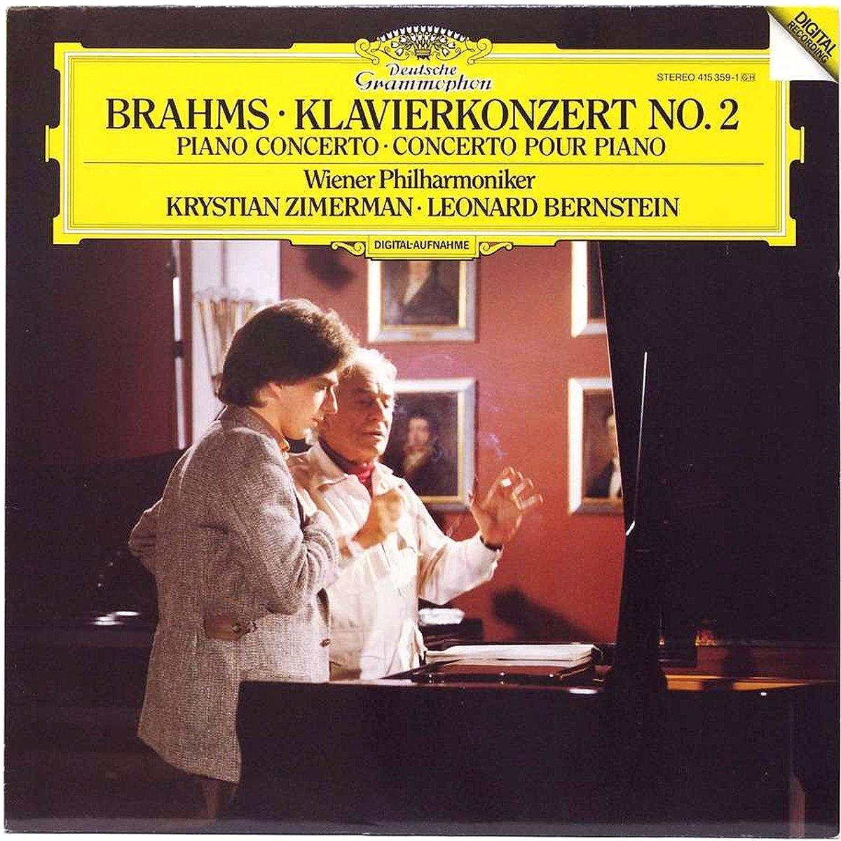 DGG 415 359 Brahms Concerto Piano Zimerman Bernstein DGG Digital Aufnahme