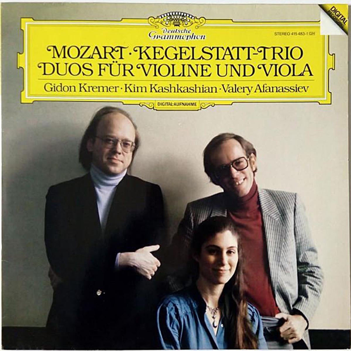 DGG 415 483 Mozart Trio Duos Kremer Kashkashian Afanassiev DGG Digital Aufnahme