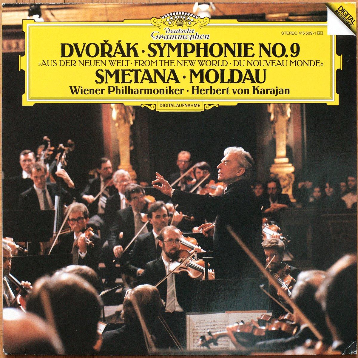 DGG 415 509 Dvorak Symphonie 9 Smetana Moldau KarajanDGG Digital Aufnahme